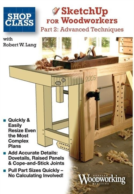 SketchUp for Woodworkers Part 2 By Robert Lang CD