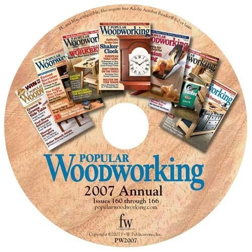 Popular Woodworking Magazine 2007 Annual CD 7 Issues