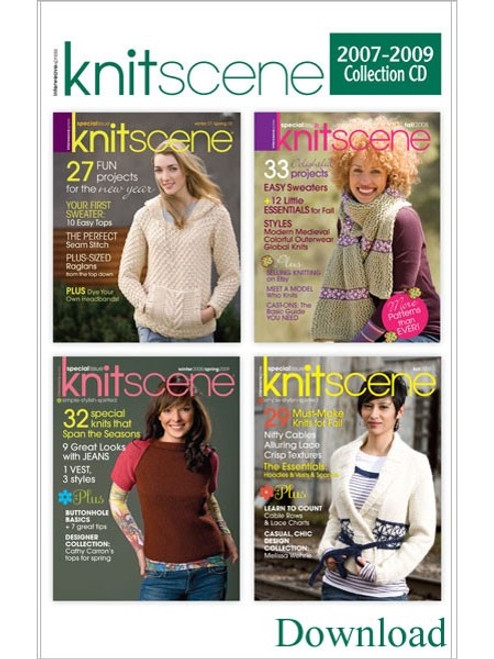 Knitscene Magazine 2007-2009 Collection CD 4 Issues