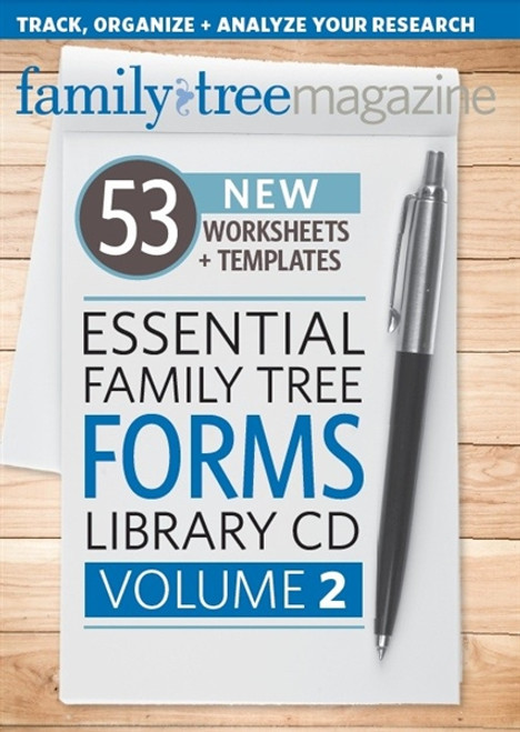 Essential Family Tree Forms Library CD  Volume 2