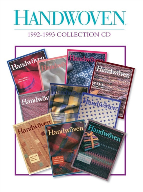 Handwoven Magazine 1992-1993 Collection CD  10 Issues