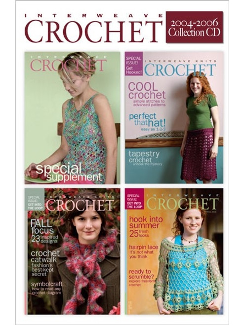 Interweave Crochet Magazine 2004-2006 Collection CD 4 Issues