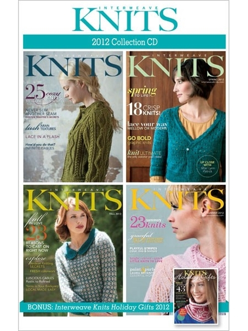 Interweave Knits Magazine 2012 Collection CD 4 Issues