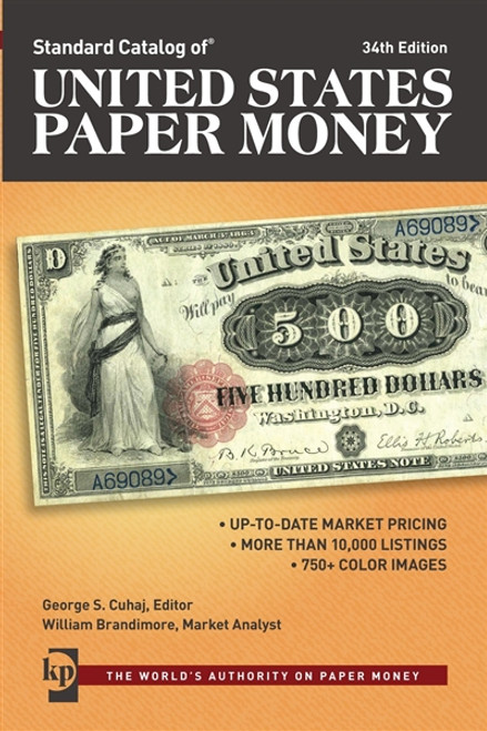 Standard Catalog Of United States Paper Money by George Cuhaj CD 34th Edition