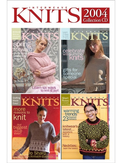 Interweave Knits Magazine 2004 Collection CD 4 Issues