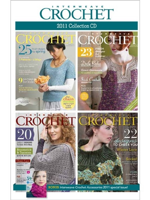 Interweave Crochet Magazine 2011 Collection CD 4 Issues