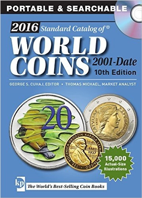 2016 Standard Catalog of World Coins 2001-Date by George Cuhaj CD