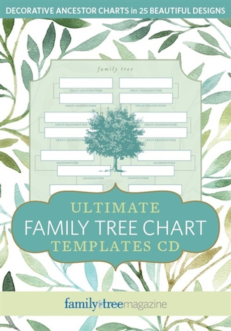 Ultimate Family Tree Chart Templates CD