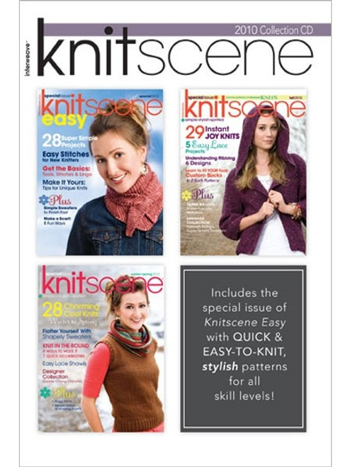Knitscene Magazine 2010 Collection CD 3 Issues