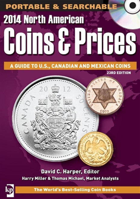 2014 North American Coins & Prices by David C. Harper CD 23rd Edition
