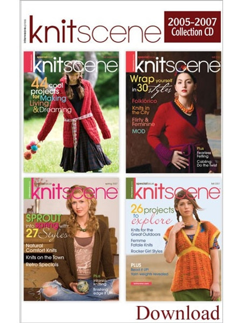 Knitscene Magazine 2005-2007 Collection CD 4 Issues