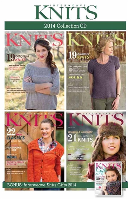 Interweave Knits Magazine 2014 Collection CD 5 Issues