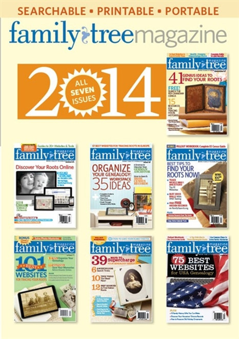 Family Tree Magazine 2014 Collection CD 7 Issues