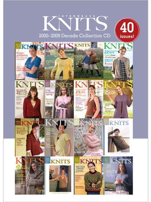 Interweave Knits Magazine 2000-2009 Decade Collection CD 40 Issues