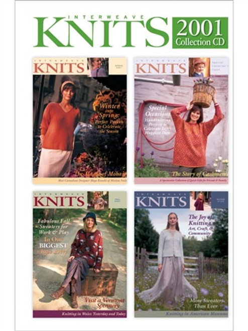 Interweave Knits Magazine 2001 Collection CD 4 Issues