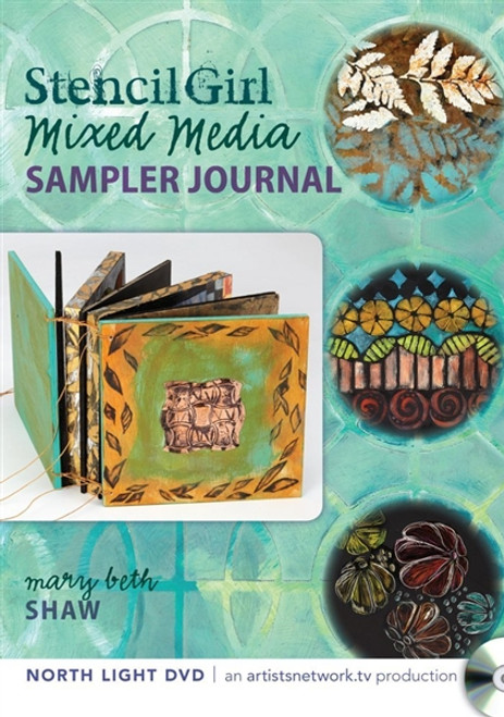 Stencil Girl - Mixed Media Sampler Journal with Mary Beth Shaw DVD