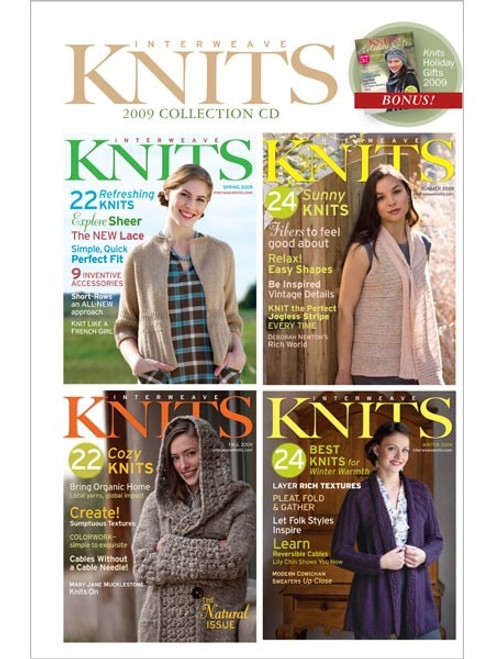 Interweave Knits Magazine 2009 Collection CD 4 Issues
