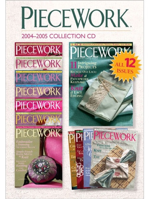 PieceWork Magazine 2004-2005 Collection CD  12 Issues