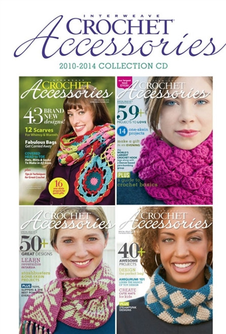Interweave Crochet Accessories Magazine 2010-2014 Collection CD 4 Issues
