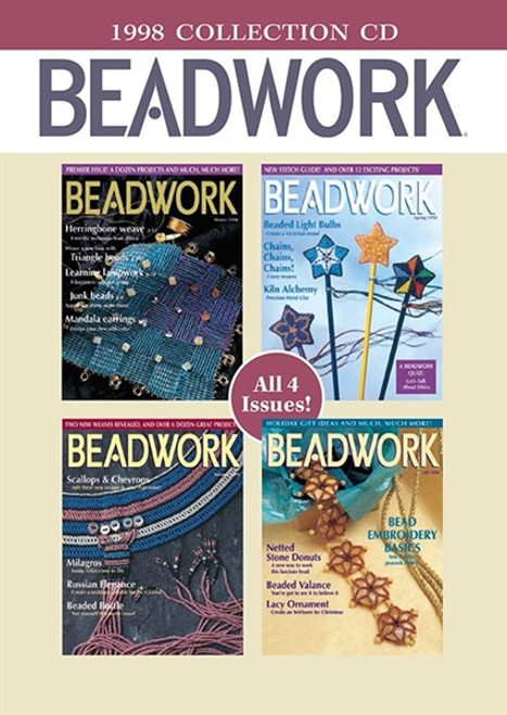 Beadwork Magazine 1998 Collection CD 4 Issues