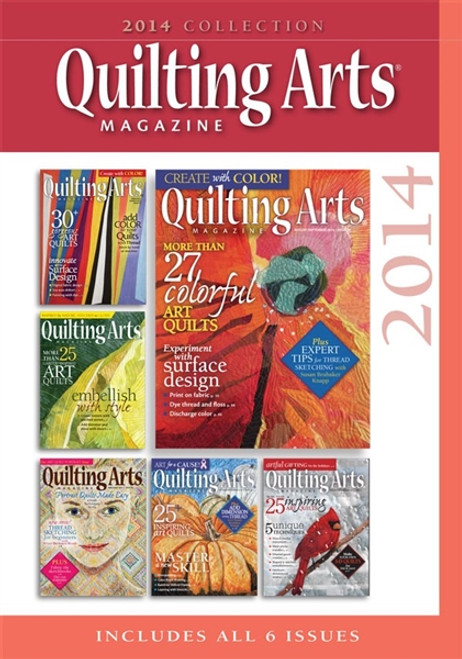 Quilting Arts Magazine 2014 Collection CD 6 Issues