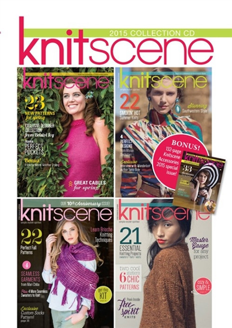 Knitscene Magazine 2015 Collection CD 4 Issues