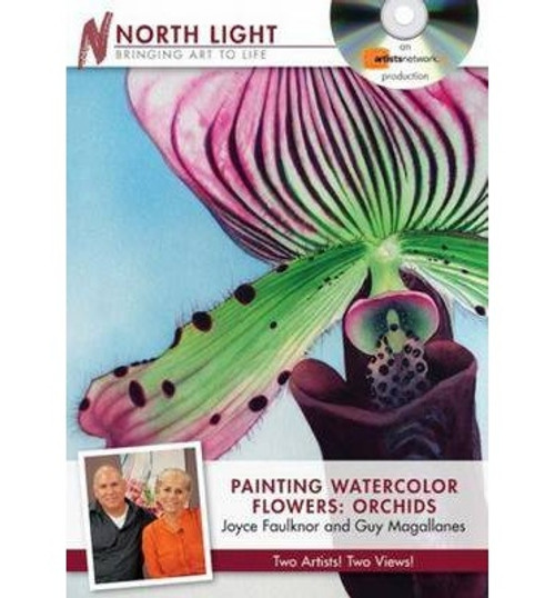 Painting Watercolor Flowers - Orchids Joyce Faulknor Guy Magallanes DVD