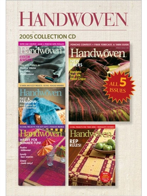 Handwoven Magazine 2005 Collection CD 5 Issues