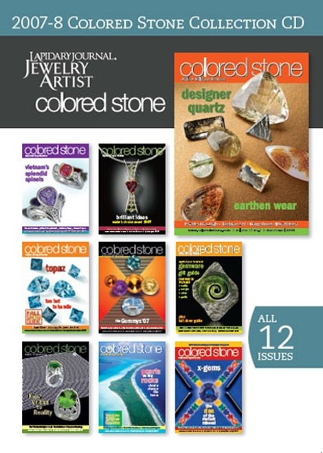 Lapidary Journal Jewelry Artist 2007 - 2008 Colored Stone Collection CD