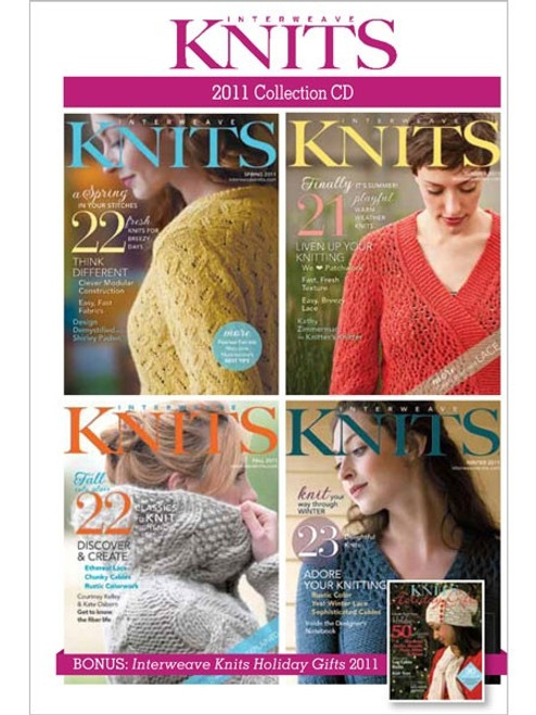 Interweave Knits Magazine 2011 Collection CD 4 Issues