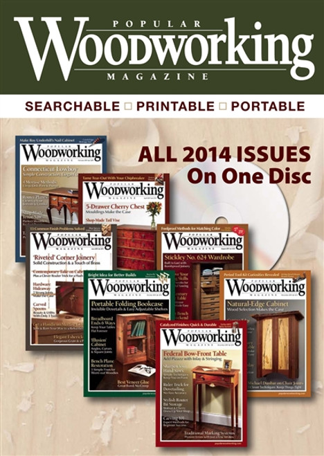 Popular Woodworking Magazine 2014 Annual Cd 7 Issues