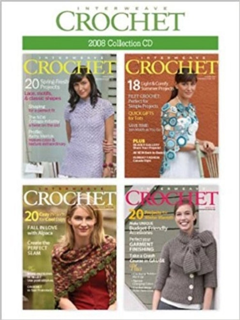 Interweave Crochet Magazine 2008 Collection CD 4 Issues