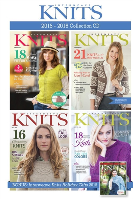 Interweave Knits Magazine 2015-2016 Collection CD 5 Issues