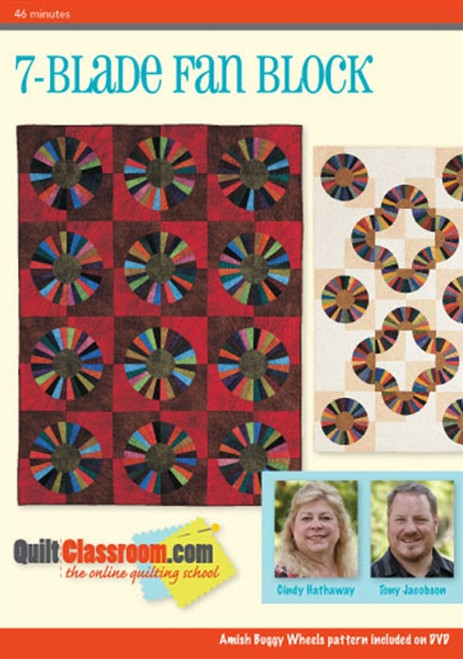 7-Blade Fan Block with Cindy Hathaway & Tony Jacobson DVD