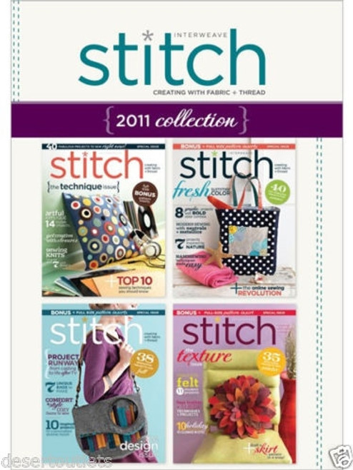 Interweave Stitch Magazine 2011 Collection CD 4 Issues