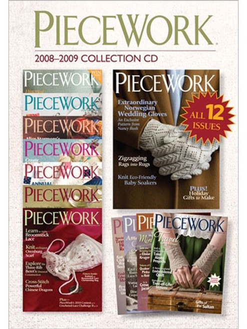 PieceWork Magazine 2008-2009 Collection CD 12 Issues