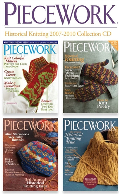 PieceWork Magazine Historical Knitting 2007-2010 Collection CD 4 Issues