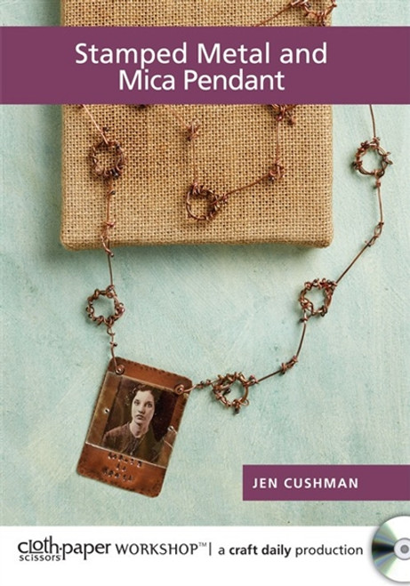 Stamped Metal and Mica Pendant with Jen Cushman DVD