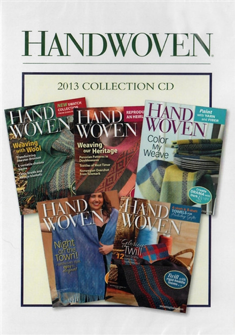Handwoven Magazine 2013 Collection CD 5 Issues