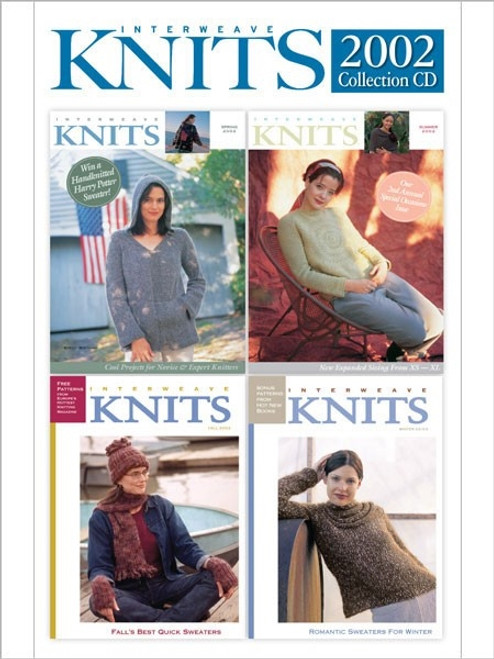 Interweave Knits Magazine 2002 Collection CD 4 Issues