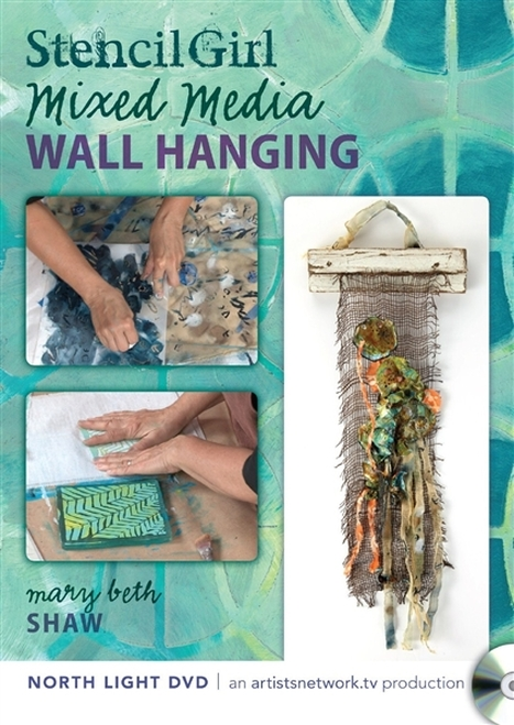 Stencil Girl Mixed Media Wall Hanging with Mary Beth Shaw - DVD- 9781440333514  -