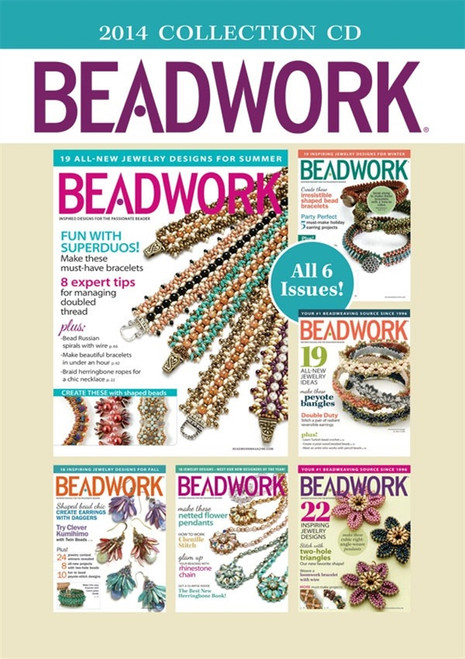 Beadwork Magazine 2014 Collection CD 6 Issues