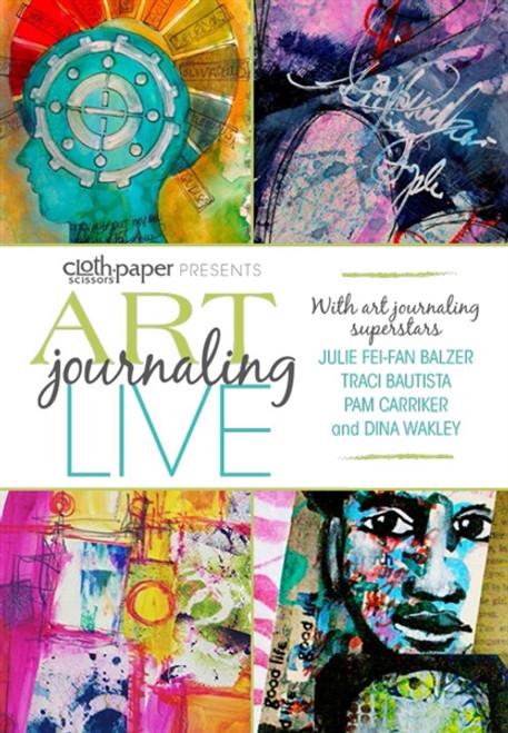 Art Journaling LIVE Julie Fei-Fan Balzer, Pam Carriker, Traci Bautista, and Dina Wakley DVD