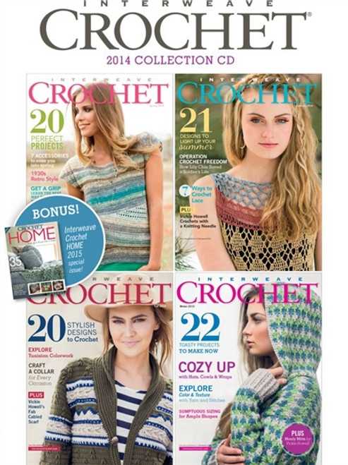 Interweave Crochet Magazine 2014 Collection CD 4 Issues