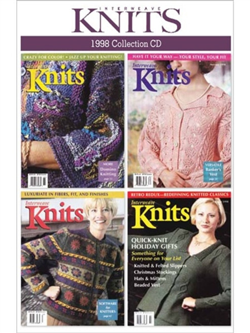 Interweave Knits Magazine 1998 Collection CD 4 Issues