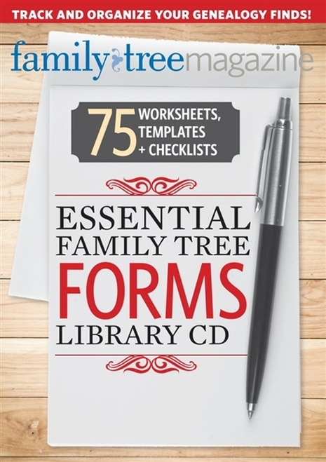 Essential Family Tree Forms Library By The Editors of Family Tree Magazine CD