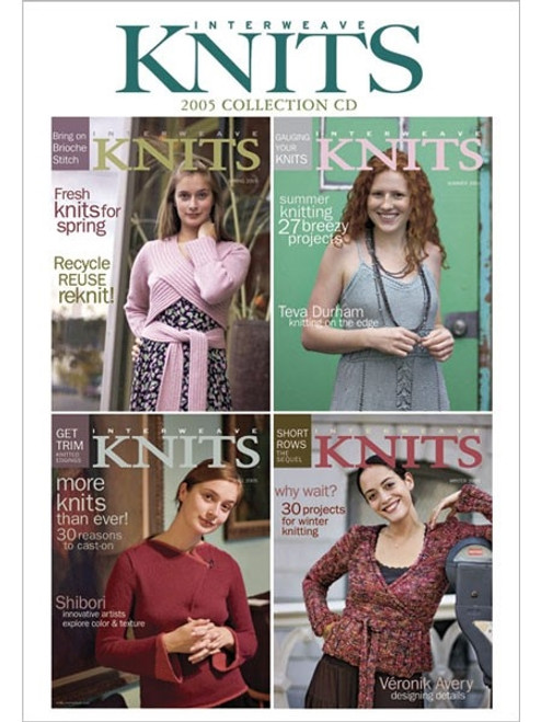 Interweave Knits Magazine 2005 Collection CD 4 Issues