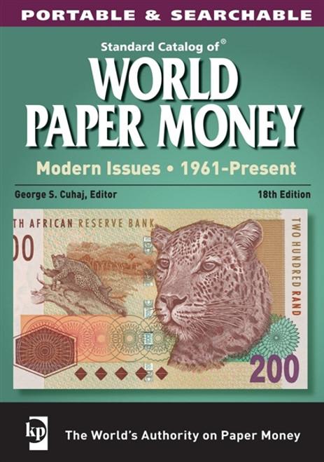 Standard Catalog of World Paper Money Modern Issues 1961-Present CD