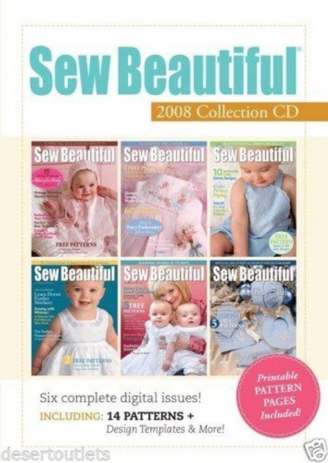 Sew Beautiful Magazine 2008 Collection CD  6 Issues