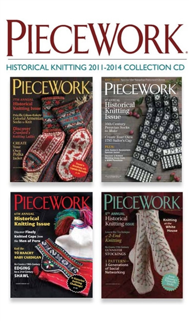 PieceWork Historical Knitting 2011-2014 Collection CD